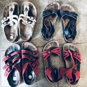 Birkenstock 4 pair Lot Bundle of size 9 | 40